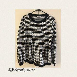 Calvin Klien Stripe Knited Sweater, Size L…